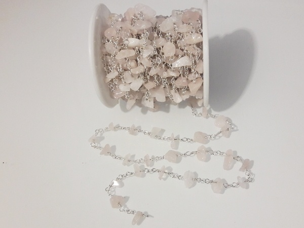 Rose quartz chip chain 10cm