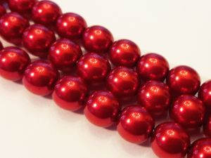 Czech glass pearl red 8mm