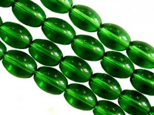 Glass bead grain dark green JGB0646