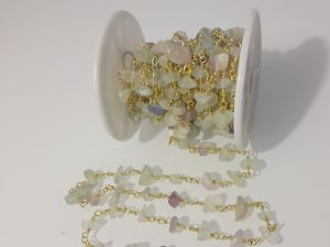 Fluorite chip chain light matte 10cm
