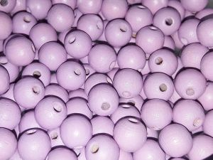 Czech Wood bead light lilac 8mm (75pcs)