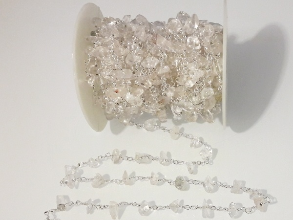 Crystal quartz chip chain 10cm