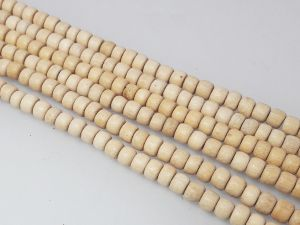 Whitewood 4x5mm rondelle (99pcs)