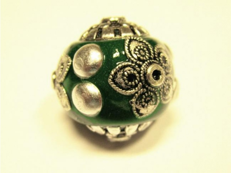 Indonesian bead flower green IND5