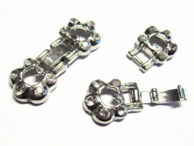 Watch clasp paw with rhinestones