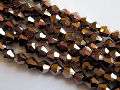 AB-Crystal 6mm bicone bronze