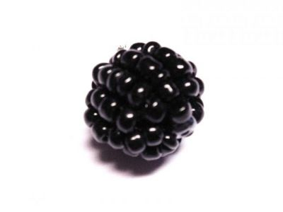 Bead made of seed beads black