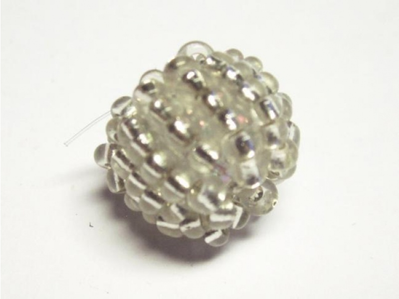 Bead made of seed beads clear