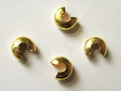 Cover bead for crimp bead gold