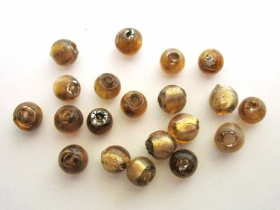 Foil bead 6mm amber FH0110