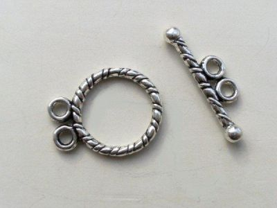 Toggle clasp with two loops JLF0171