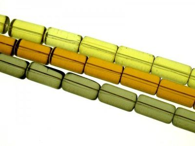 Glass bead 10x20mm cylindrical