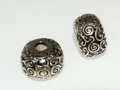Copper coated bead rondelle CCB6055