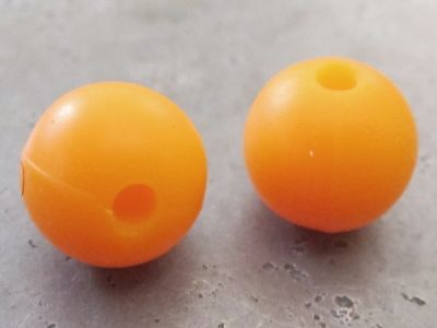 Silicone bead 10mm orange