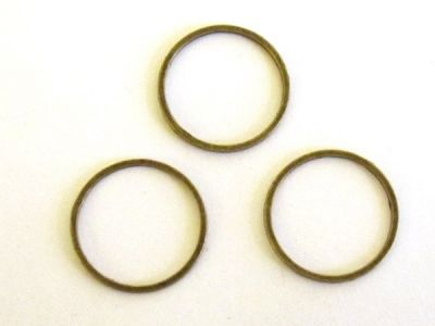 Chain loop 15mm roundantique brass plated