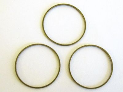 Chain loop 25mm round antique brass plated