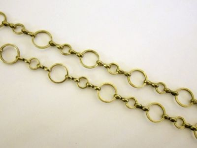 Loop chain antique brass plated round JCH0061