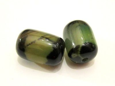 Agate barrel green stripe