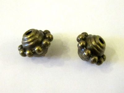 Spacer bead antique brass