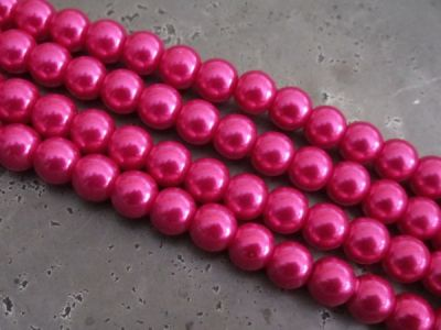 Glass pearl 10mm fuchsia HL09