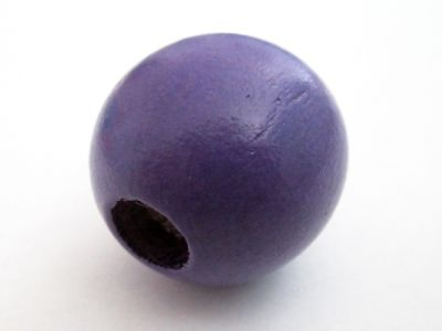 Wood bead violet big hole (24mm)