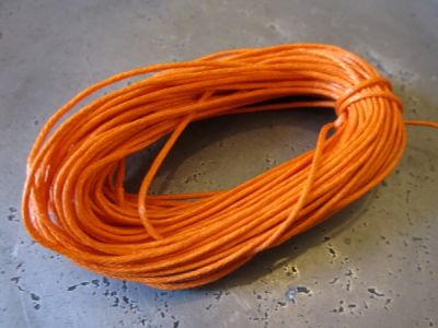 Waxed cotton bright orange (1mm)