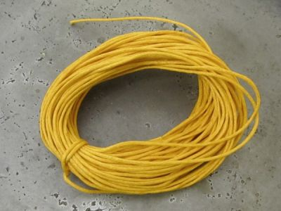 Waxed cotton mustard (1mm)