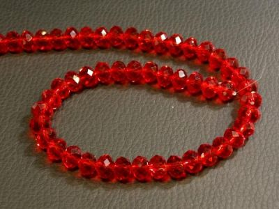 Crystal rondelle 4x6mm red KRR0060