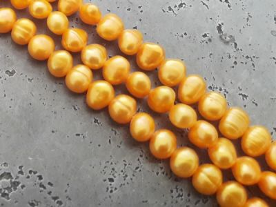 Freshwater pearl orange (6,5x5,5mm) 41cm