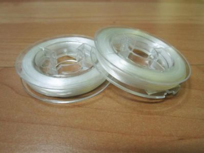 Flat elastic thread