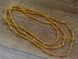Glass seed bead 6/0 frosted yellow-orange