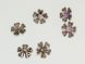 Copper coated bead flower CCB3496