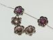Copper coated bead flower CCB4293