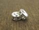 Spacer bead with rhinestones clear (4pcs)