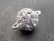 Magnet clasp small ball with rhinestones H