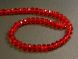 Crystal rondelle 3x4mm red KRR0024