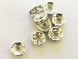 Spacer bead with rhinestones light turquoise (8pcs)