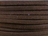 Suede imitation ribbon dark brown