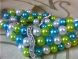 Glass pearl 8mm turquoise HL33